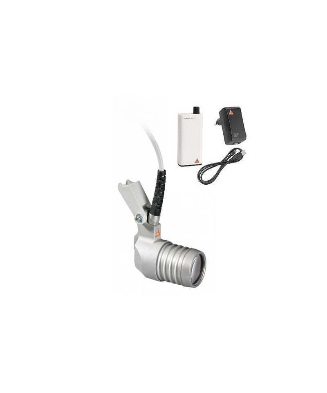 Lámpara frontal HEINE LoupeLight 2 con mPack mini